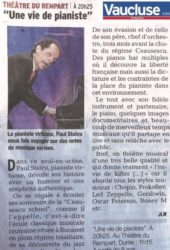 Paul Staicu - Une vie de pianiste - Vaucluse